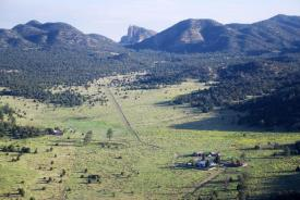 Old Double Circle Ranch: OO Ranch from the air