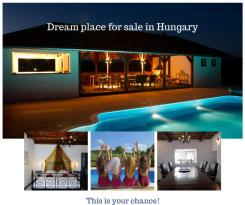 Dreamplace Hungary: pavillion with pool opening view